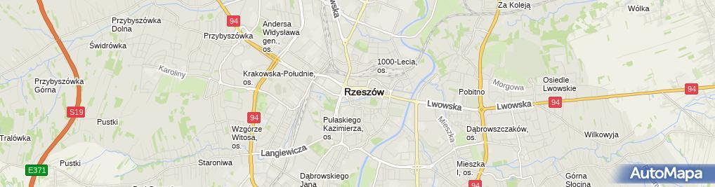 Zdjęcie satelitarne Podkarpacki Urząd Wojewódzki w Rzeszowie