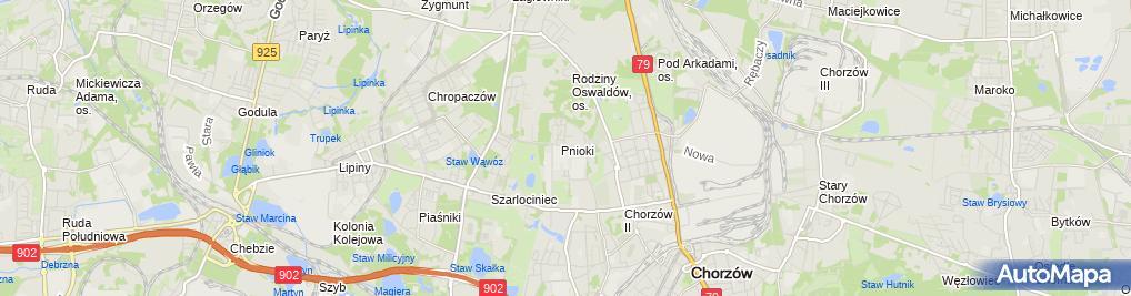 Zdjęcie satelitarne Powiatowy Urząd Pracy w Chorzowie