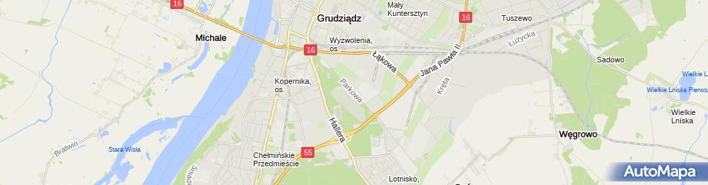 Zdjęcie satelitarne Powiatowy Urząd Pracy w Grudziądzu