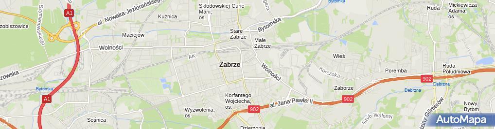 Zdjęcie satelitarne Powiatowy Urząd Pracy w Zabrzu