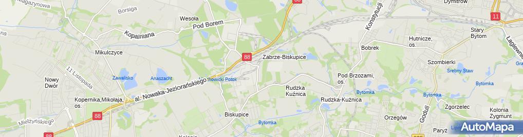 """Zdjęcie satelitarne P.P.U.H """"KŁOSOK"""" Andrzej Kłosok - Zajezdnia Biskupice"""