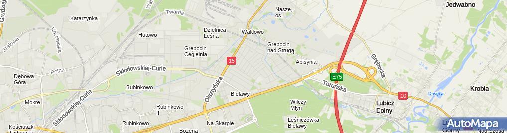 Zdjęcie satelitarne Przeprowadzki, usługi transportowe - Radosław Niedźwiecki