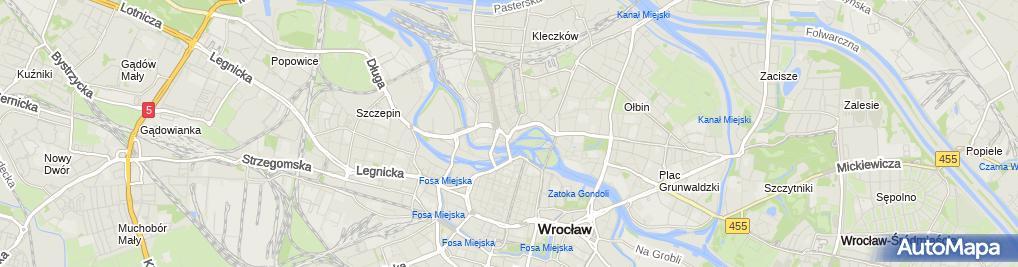 Zdjęcie satelitarne Agnieszka Frączek Kancelaria Radcy Prawnego