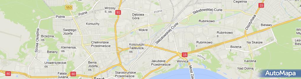 Zdjęcie satelitarne KOMA Przedsiębiorstwo Projektowo-Wykonawcze Budownictwa i Instal