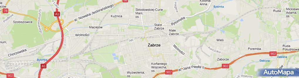 Zdjęcie satelitarne Komornik Sądowy Przy Sądzie Rejonowym w Zabrzu Zbigniew Rudlicki