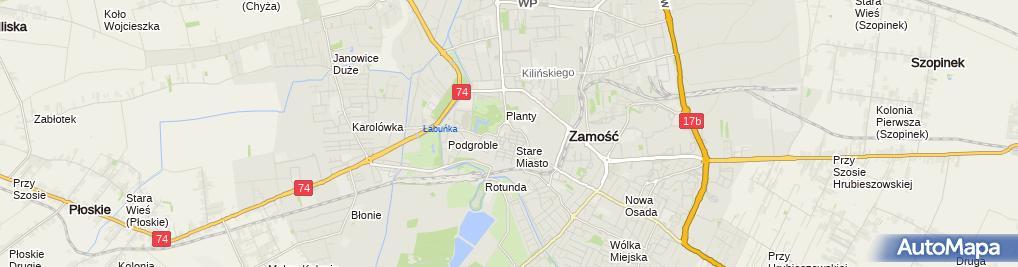 Zdjęcie satelitarne Zamojska Kancelaria Radcowska Jakub Batalia Radca Prawny