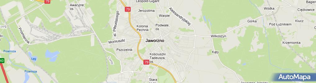 Zdjęcie satelitarne Warka - Piwiarnia