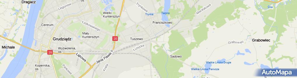 Zdjęcie satelitarne Paczkowski Andrzej