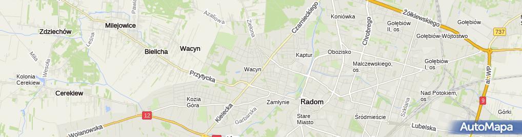 Zdjęcie satelitarne Romar - Blacharstwo i Lakiernictwo