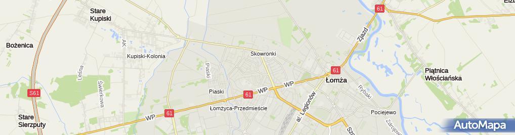 Zdjęcie satelitarne Usługi Lakierniczo-Blacharskie