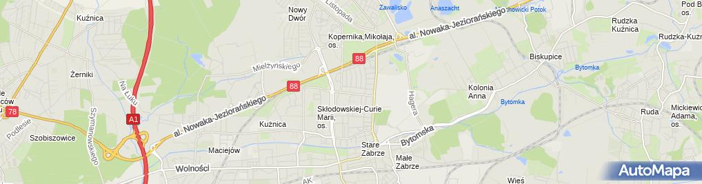 Zdjęcie satelitarne Zakład Blacharsko-Lakierniczy