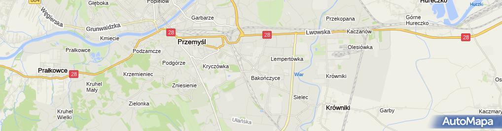 Zdjęcie satelitarne Autonaprawa