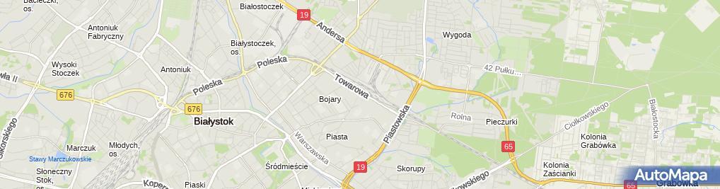 Zdjęcie satelitarne Usługi Motoryzacyjne