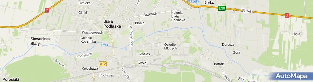 Zdjęcie satelitarne Warsztat Samochodowy - Demczuk Zbigniew