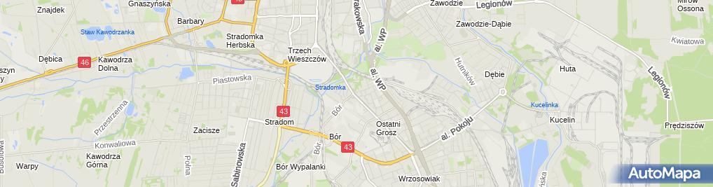 Zdjęcie satelitarne Warzywno-owocowy - Sklep