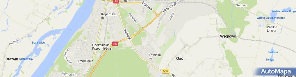 Zdjęcie satelitarne Gabinet Weterynaryjny Lek Wet Anna Sargalska