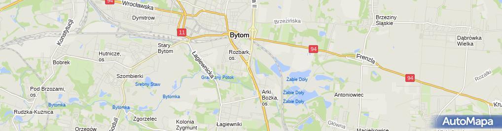 Zdjęcie satelitarne Przychodnia Weterynaryjna Bednarska Izabela Borówka Tomasz