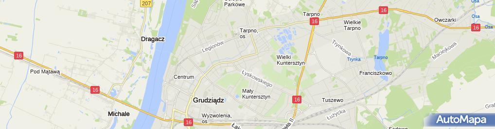 Zdjęcie satelitarne Przychodnia Weterynaryjna Kotewicz Piotr Ługiewicz Andrzej