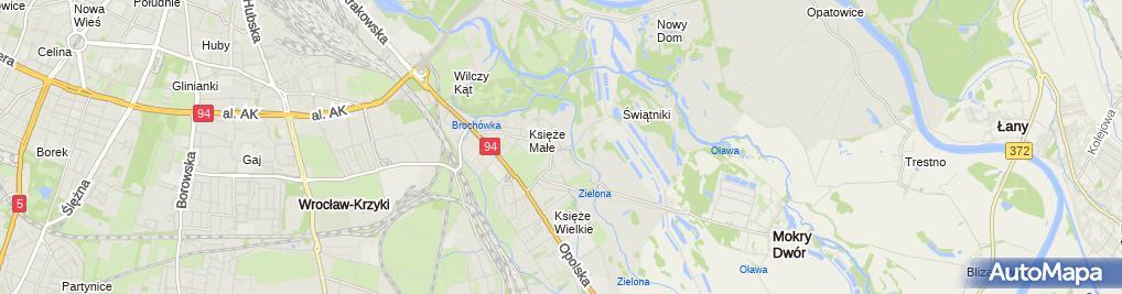 Zdjęcie satelitarne WKS ŚLĄSK - sekcja strzelecka