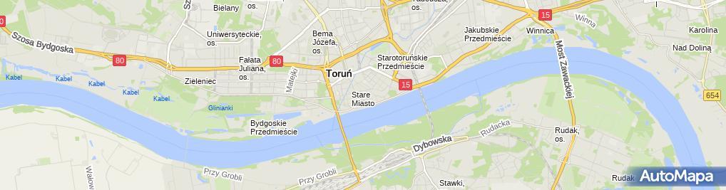 Zdjęcie satelitarne Restauracja Toruń Staremetropolis