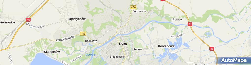 Zdjęcie satelitarne Wodociągi i Kanalizacja AKWA Sp. z o.o.