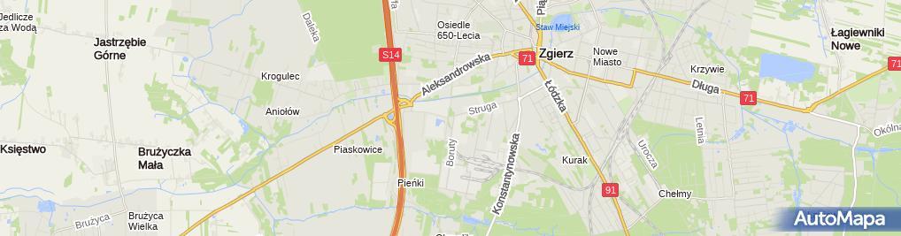 Zdjęcie satelitarne Wodociągi i Kanalizacja Zgierz Sp. z o.o