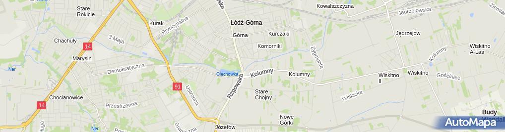 Zdjęcie satelitarne ZWiK Łódź - Punkt uzdatniania wody