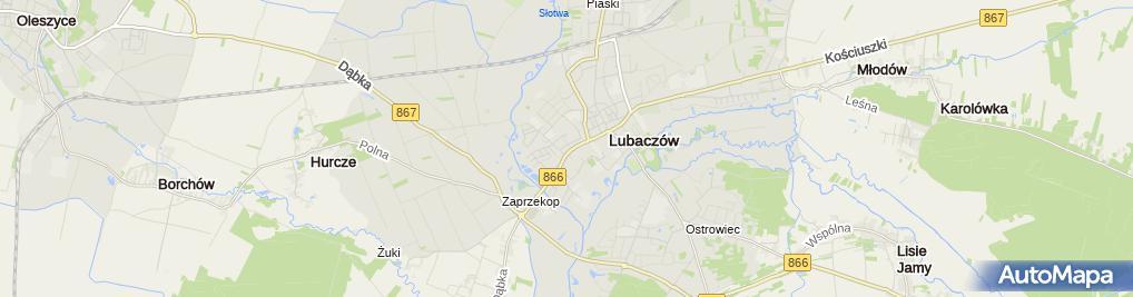 Zdjęcie satelitarne Opony - Peszko Stanisław
