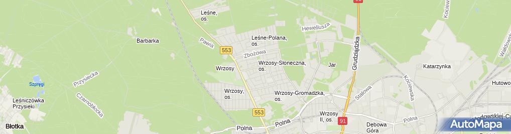 Zdjęcie satelitarne Serwis Opon Wrzosgum