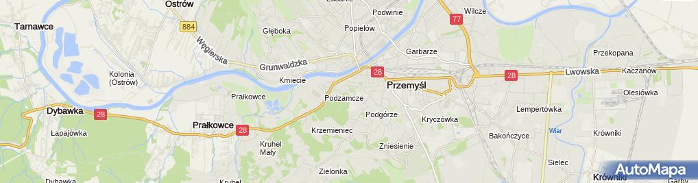 Zdjęcie satelitarne Zamek Kazimierzowski - Przemyskie Centrum Kultury i Nauki