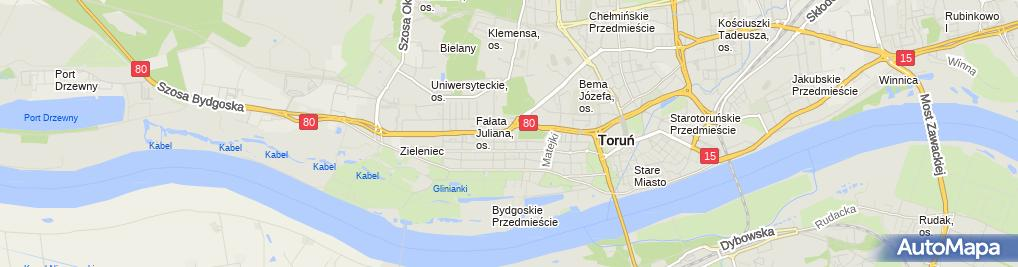 Zdjęcie satelitarne Zakład energetyczny, Oddział w Toruniu