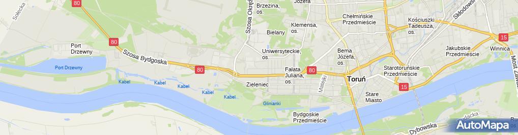 Zdjęcie satelitarne Przed-Obiektywem. J. Piróg
