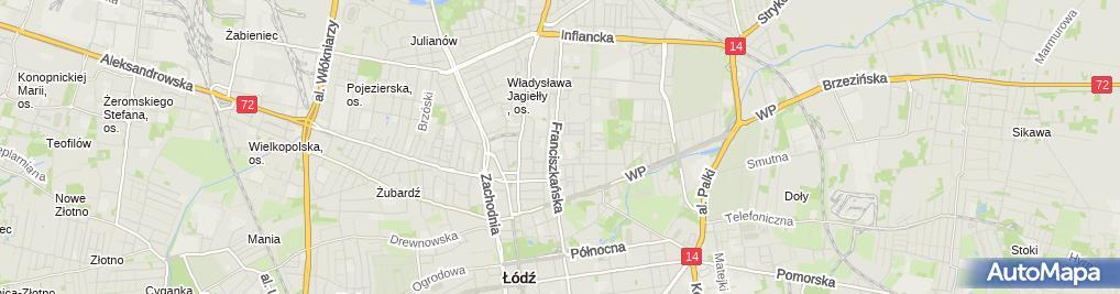 Zdjęcie satelitarne Bieliźniarstwo Krawiectwo Lekkie