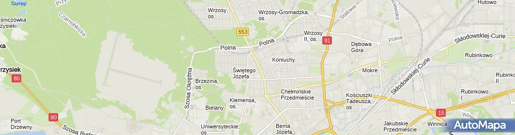 Zdjęcie satelitarne Dziurlikowska Paulina Paula Pracownia Krawiectwa Miarowego