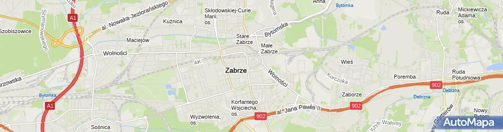 Zdjęcie satelitarne Elżbieta Grach Krawiectwo Damskie , Lekkie Elżbieta Grach