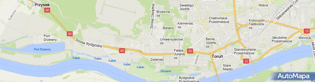Zdjęcie satelitarne Krawiectwo