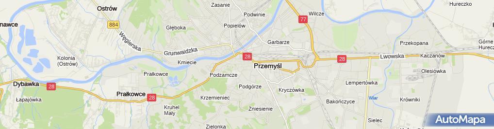 Zdjęcie satelitarne Łucja Kocik-Lech Pracownia Krawiecka Biedronka