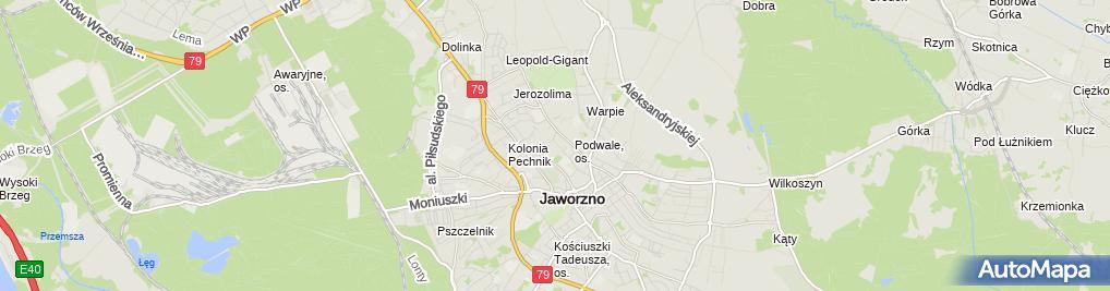 Zdjęcie satelitarne Magda Pracownia Krawiecka Krupińska Jadwiga