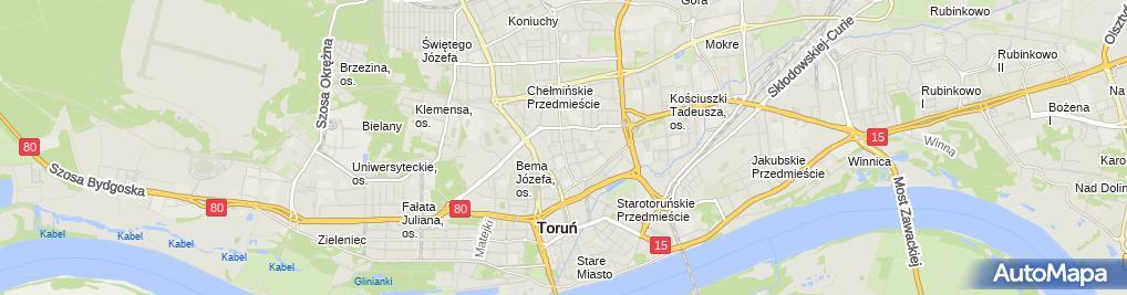 Zdjęcie satelitarne Pracownia Krawiecka M&K