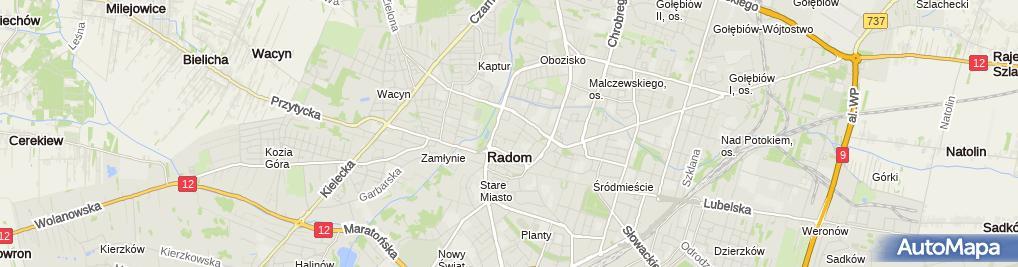 Zdjęcie satelitarne Słomka Genowefa Zakład Krawiecki