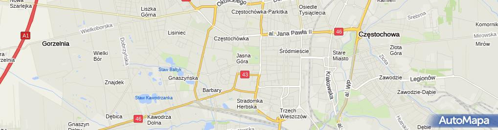 Zdjęcie satelitarne Zakład Krawiecki Fides