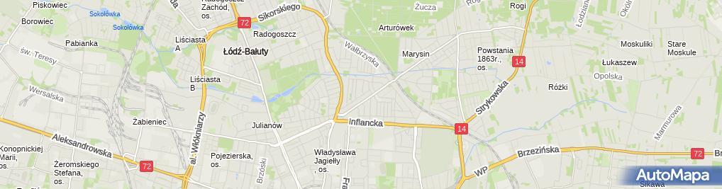 Zdjęcie satelitarne Zakład Krawiecki