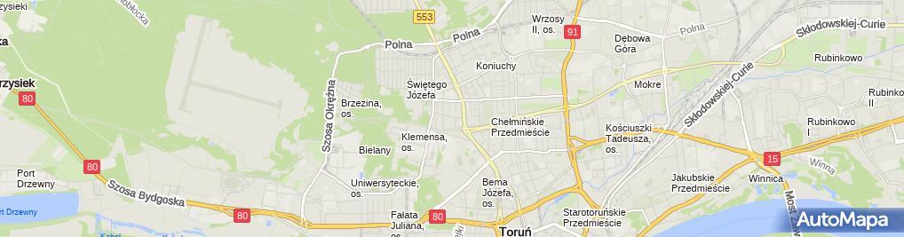 Zdjęcie satelitarne Zakład Usługowo Krawiecki LILI Witkowska Ewa