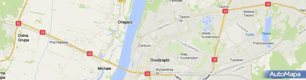 Zdjęcie satelitarne Charon Zakład Usług Pogrzebowych Ewa Wesołowska