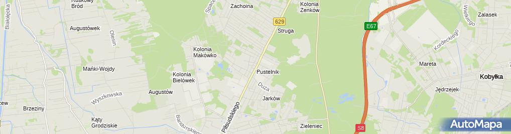 Zdjęcie satelitarne Usługi Pogrzebowe Charon Irena i Andrzej Krajewscy