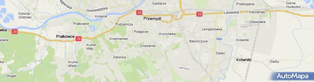 Zdjęcie satelitarne Władysław Grabowski Kompleksowy Zakład Pogrzebowy Hades