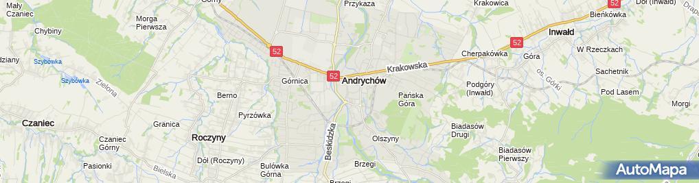Zdjęcie satelitarne ZADORA - Zakład Pogrzebowy Andrychów