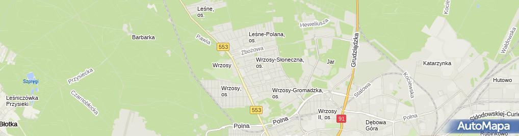 Zdjęcie satelitarne Sławomir Liczkowski Zakład Stolarski Wrzos-Meble