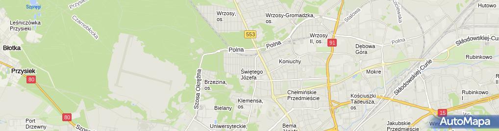 Zdjęcie satelitarne Stolarstwo Mariusz Mausolf