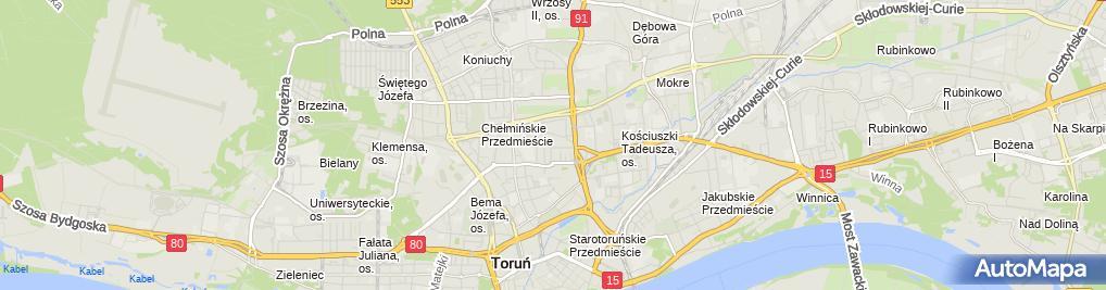 Zdjęcie satelitarne ABC Szklarstwa